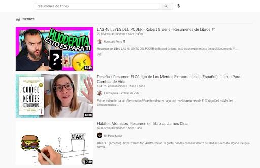 etiqueta youtube