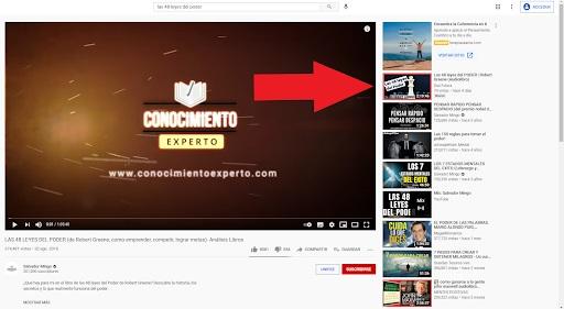 etiquetas de video relacionados youtube